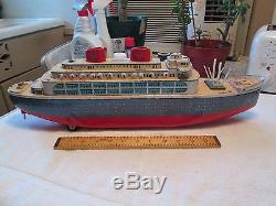 Modern Toys (Japan) Tin Cruise Ship 22L Battery Operated VGC Circa 1960's