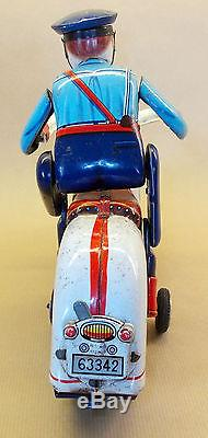 Modern Toys Police Motorcycle battery operated, Made in Japan