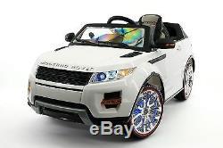 Moderno Rover 12V Kids Ride-On Car with R/C Parental Remote White