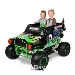 Monster Jam Grave Digger 24 Volt Battery Powered Kids Ride On Truck Quad Vehicle