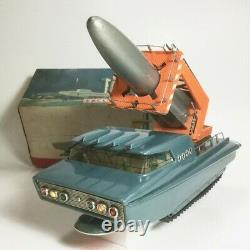 Moon mobile rocket launcher Battery Operated Old Super Rare