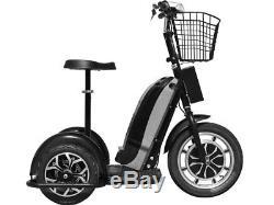 MotoTec Electric Mobility Scooter Transporter Trike Bike 48v 800w-Black-new