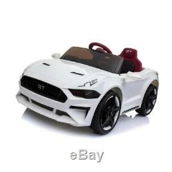 Mustang Replica Kids Ride on Car with Remote (White)