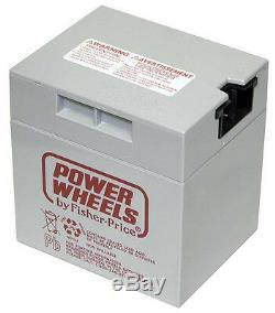 NEW- Genuine Power Wheels 12 Volt Rechageable Battery 00801-1460 Gray 12V