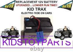 NEW! LONG LASTING DODGE RAM 3500 DUAL CAR KID TRAX 12V OEM BATTERY BLUE WithPLUG
