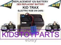 NEW! REPLACEMENT OEM KID TRAX DODGE RAM 3500 DUALY TRUCK 12V BATTERY WithBLUE PLUG