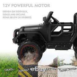 New 12V Kids Ride On Car Truck Battery 3 Speeds Toy LED MP3 Remote Control Black