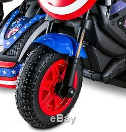 New 12-Volt Marvel Captain America Kids Motorcycle Ride-On Toy
