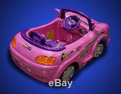 New Battery Powered Ride-On Kids RC Ride On Toy Car with Parental Remote MP3 Pink