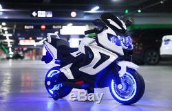 New Led 12v Motor Cycle Power Wheel Kids Ride On Electric Sports Bike Girls, Boys