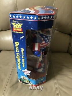 New Stars And Stripes Buzz Lightyear Action Figure LE Toy Story Disney Store