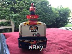 Old 1958 Cragstan Japan Tin Battery-Op RCA-NBC Mobile TV Truck withBOX
