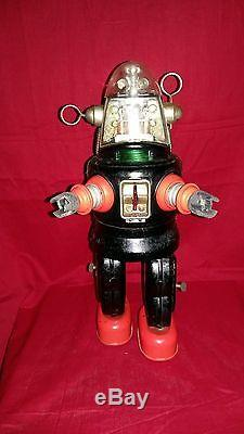 Old vintage rare original 1950 s Japanese battery operated Robby Robot