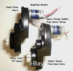 PAIR of Power Wheels Gearboxes and Motors for Jeep Hurricane SPEED TUNED