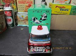 PANDA TRUCK BATTERY OPERATED IN BOX RED CHINA 50s RARE NEAR MINT WORKS ME-755