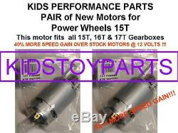 Pair Faster Stage 2 #7r Motors! For 8t 19t 21t 23t Power Wheels Gearboxes