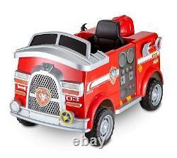 Paw Patrol Fire Truck Ride On Marshall Rescue Dog Helmet Shovel Extinguisher 6V