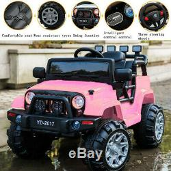 Pink 12V Kids Ride on Car Electric Powered Battery Wheel Remote Control 3 Speed