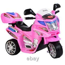 Pink Kids Motorcycle Ride On Electric Girls Bike Battery Powered Power 6V Wheels
