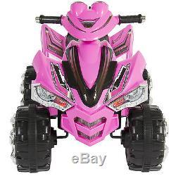 Pink Kids Ride On ATV Quad 4 Wheeler 12V Battery Electric Power Led Lights Music