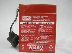 Power Wheels 00801-0712 6 volt RED BATTERY Genuine 1 year warranty NEW