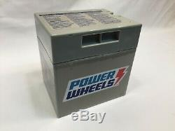 Power Wheels 12 volt BATTERY 00801-1869 Grey Genuine 12v FREE SHIPPING