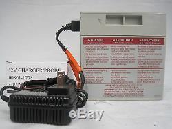 Power Wheels Barbie Jammin Jeep Battery 12V Gray Battery & 12V Charger Combo