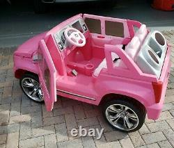 Power Wheels Barbie Pink Cadillac with 12 V Battery