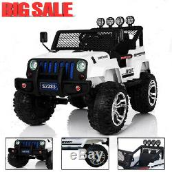Power Wheels Electric Kids Jeep Style Car Ride On Toy 12V Remote Control MP3 LED