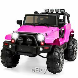 Power Wheels For Girl Jeep Electric Car Kids Ride On Toys Outdoor 12V RC Ride-On