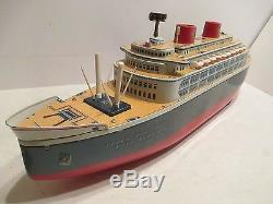 QUEEN OF THE SEA SHIP 21 LONG BATTERY OPERATED VG COND WORKS IN ORIGINAL BOX