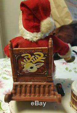 Rare Alp's 1950's Rocking Santa Battery Operated Tin Toy