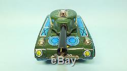 Rare Vintage Daiya Japan Jaguar X-77 Tank Tin Battery Operated Toy & Box