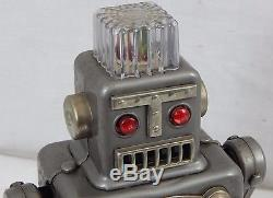 Rare Vintage Linemar Smoking Space Man Robot Japan Battery Operated Toy Tested