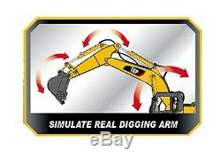 RC Excavator Tractor Toy Remote Control Metal Digger Truck Vehicle Full Function