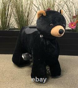 RECHARGEABLE MOTORIZED RIDE ON TOY (MINI-BLACK BEAR) KIDS 3-8 YRS Giddy Up RideS