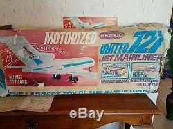 Remco United Jet Mainliner Extremely Rare Airplane With Box And Instructions
