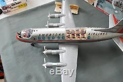 ROSKO TOYS Viscount Air Liner AMERICAN AIRLINES Battery Op Tin Litho Airplane