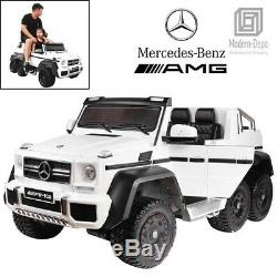 R/C 2 x 12 V TOUCH TV Mercedes G63 AMG 6 Wheeler 6 MOTORS RIDE ON CAR 6 X 6