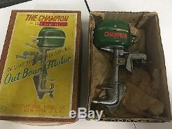 Rare And Pristine 1940's Toy Boat Motor. Metal Crafted Motor, NIB With Papers