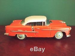 Rare Kanto Toys Ichiko Japan Tin Battery Coin Operated 1955 Chevrolet