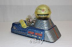 Rare Nomura TN Japan Tin Litho Battery Op Moon Patrol Space Division Ship L@@K