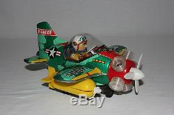 Rare Osaka KO Japan Battery Operated USAF Fighter Airplane Toy withBox EX L@@K
