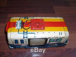 Rare RCA NBC Mobile Color TV Truck Tin Litho Cragstan Japan 1960s With Box WORKS