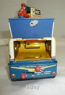 Rare Vintage 1950's Japan Battery Op. Rca Victor Nbc Television Truck Yonezawa