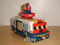 Rare vintage RCA-NBC Mobile Color TV Truck 50's B/O, made in Japan