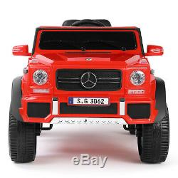 Red 12V Electric Mercedes Benz Kids Ride On Car Toys USB MP3 LED Remote Control