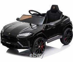 Ride On Car 12V Battery Licensed Lamborghini Urus Remote Control MP3 Music Black
