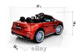Ride On Car 12V Battery Licensed Mercedes Benz SL65 RC MP4 Screen LED Wheels Red
