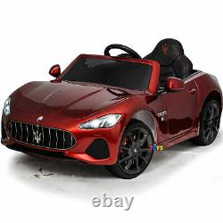 Ride On Car 12V Battery Powered Maserati Remote Control MP3 Music Open Doors Red